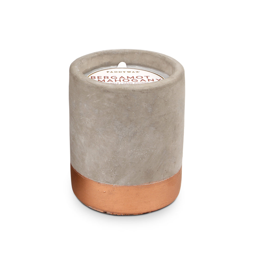 Urban Concrete Pot Bergamot + Mahogany Candle - Cultur'd Collective