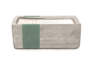 Urban Concrete Rectangle Eucalyptus + Santal Candle - Coveted Style