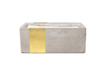Urban Concrete Rectangle Amber + Smoke Candle - Cultur'd Collective