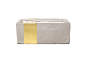 Urban Concrete Rectangle Amber + Smoke Candle - Coveted Style