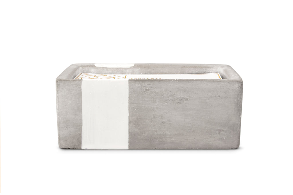 Urban Concrete Rectangle White Tobacco + Patchouli Candle - Cultur'd Collective