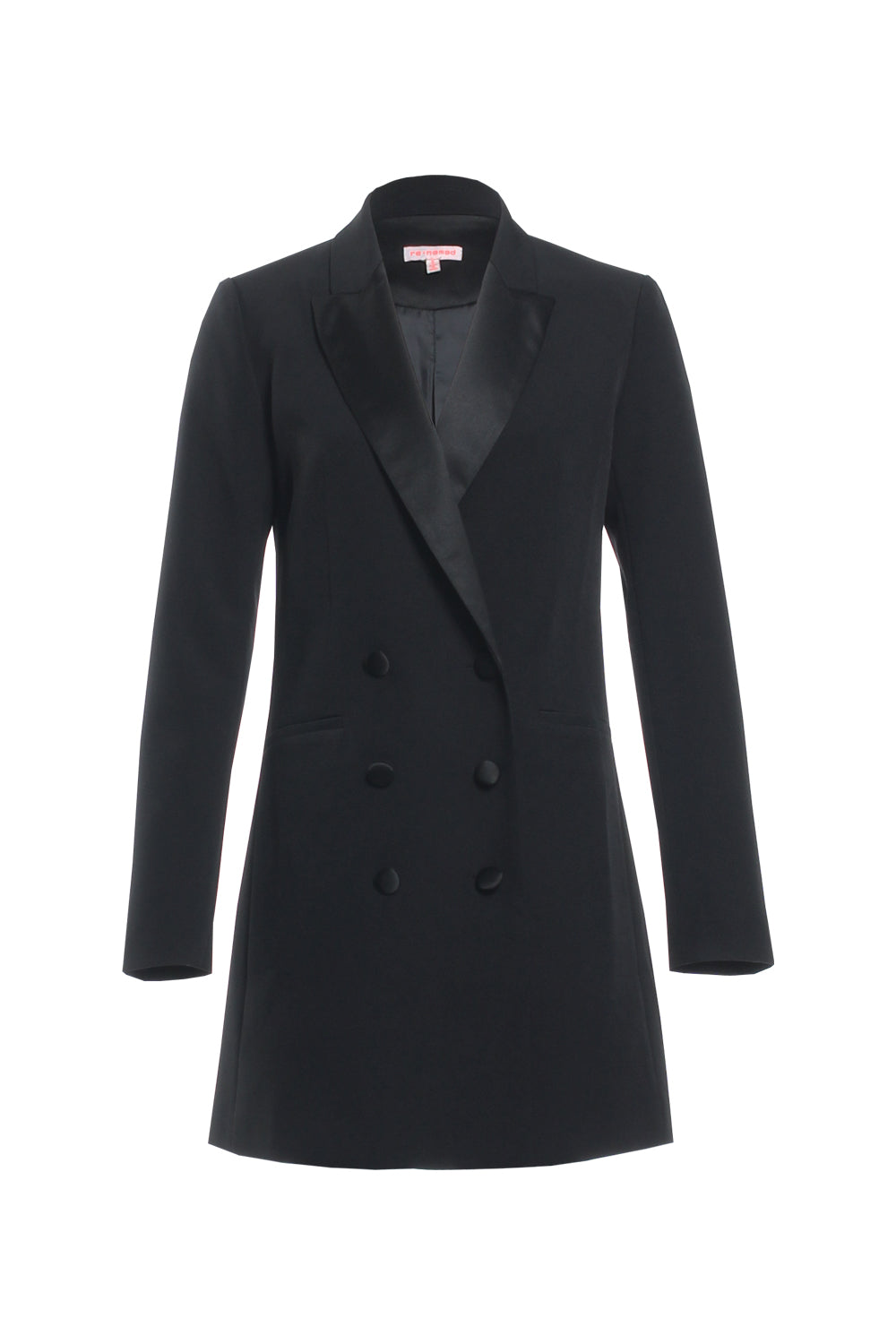 Black Tuxedo Blazer Dress - Coveted Style