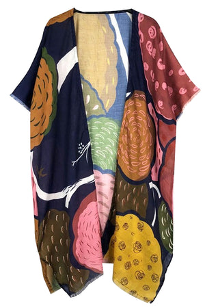 Carolyn Abstract Kimono - Coveted Style