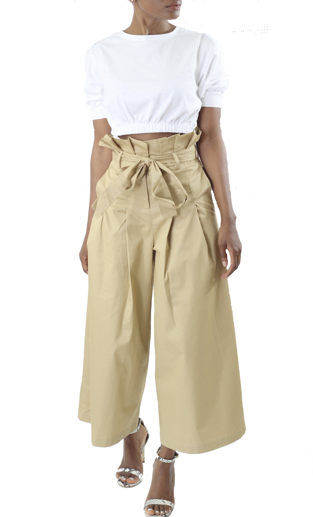 High Waist Paper Bag Pant - Cultur'd Collective