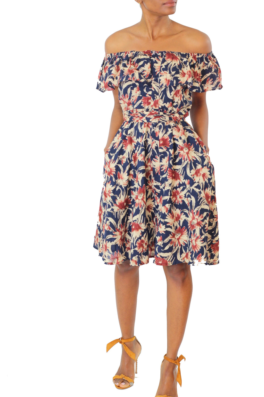 Floral Off Shoulder Dress - Cultur'd Collective
