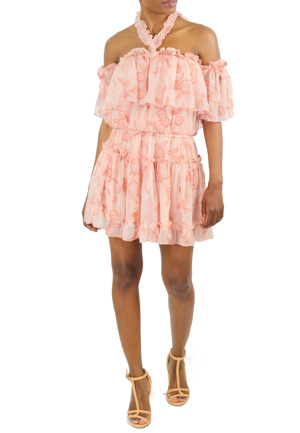 Blush Halter Dress - Coveted Style