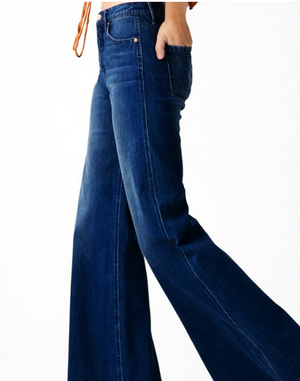 Paris High Rise Palazzo Wide Leg Jean - Coveted Style