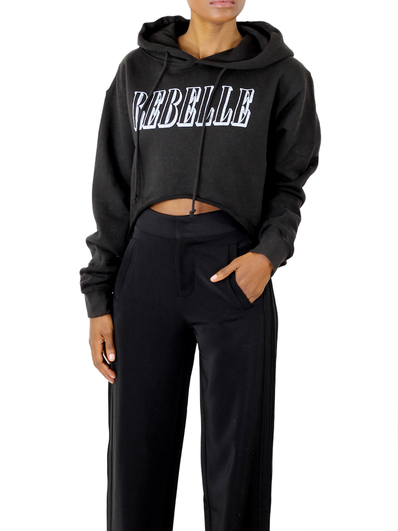 Rebelle Crop Hoodie - Cultur'd Collective