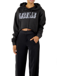 Rebelle Crop Hoodie - Coveted Style