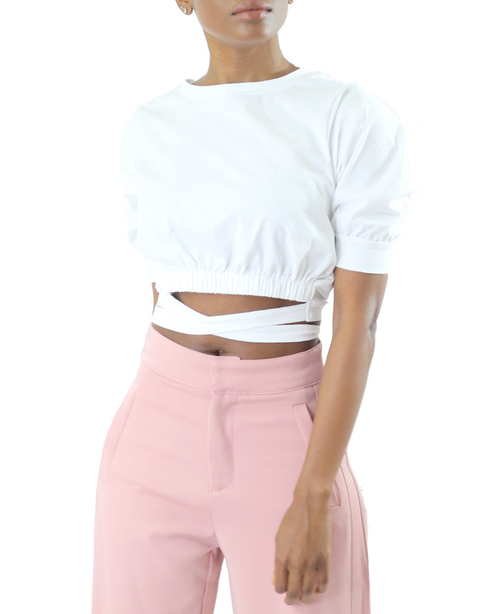 Tie Waist Cropped Top - Cultur'd Collective