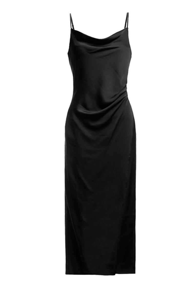 Maddy Black Slip Dress - Coveted Style
