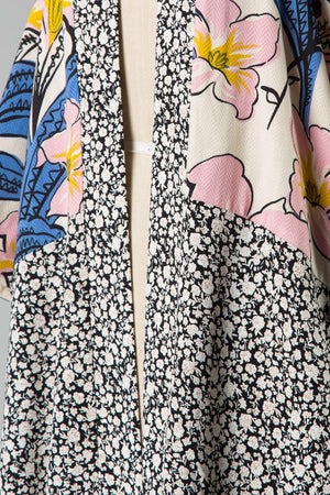 Maria Bell Sleeve Mixed Floral Kimono - Coveted Style