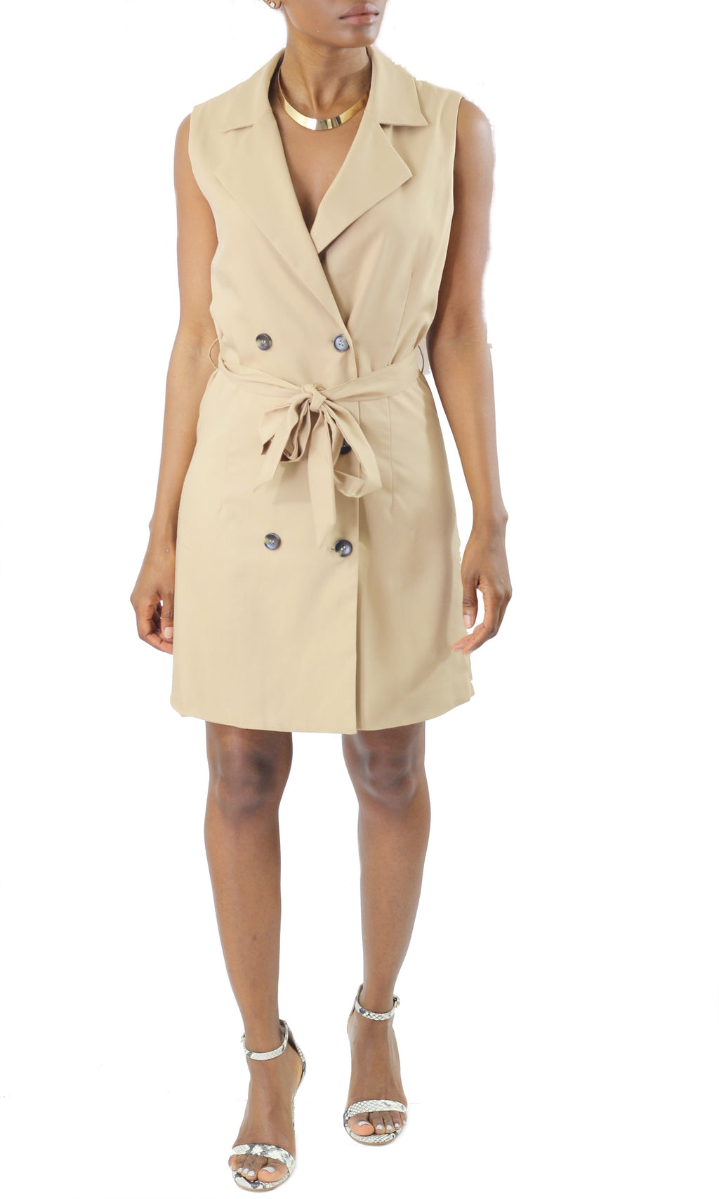 Sleeveless Trench Dress - Coveted Style
