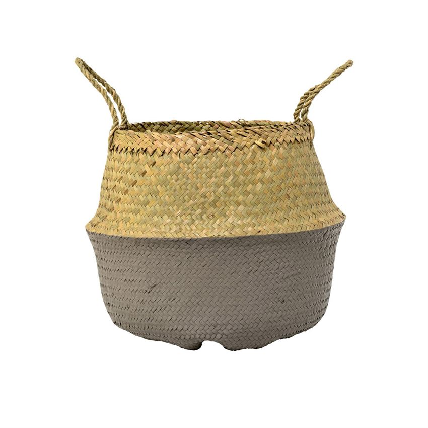Natural & Grey Seagrass Basket - Coveted Style