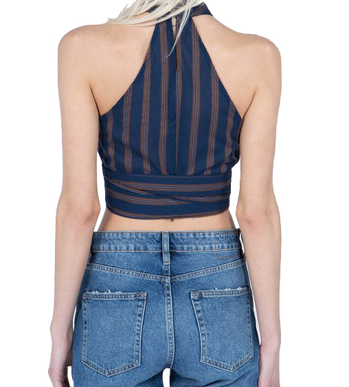 Venice Striped Crop Top - Coveted Style