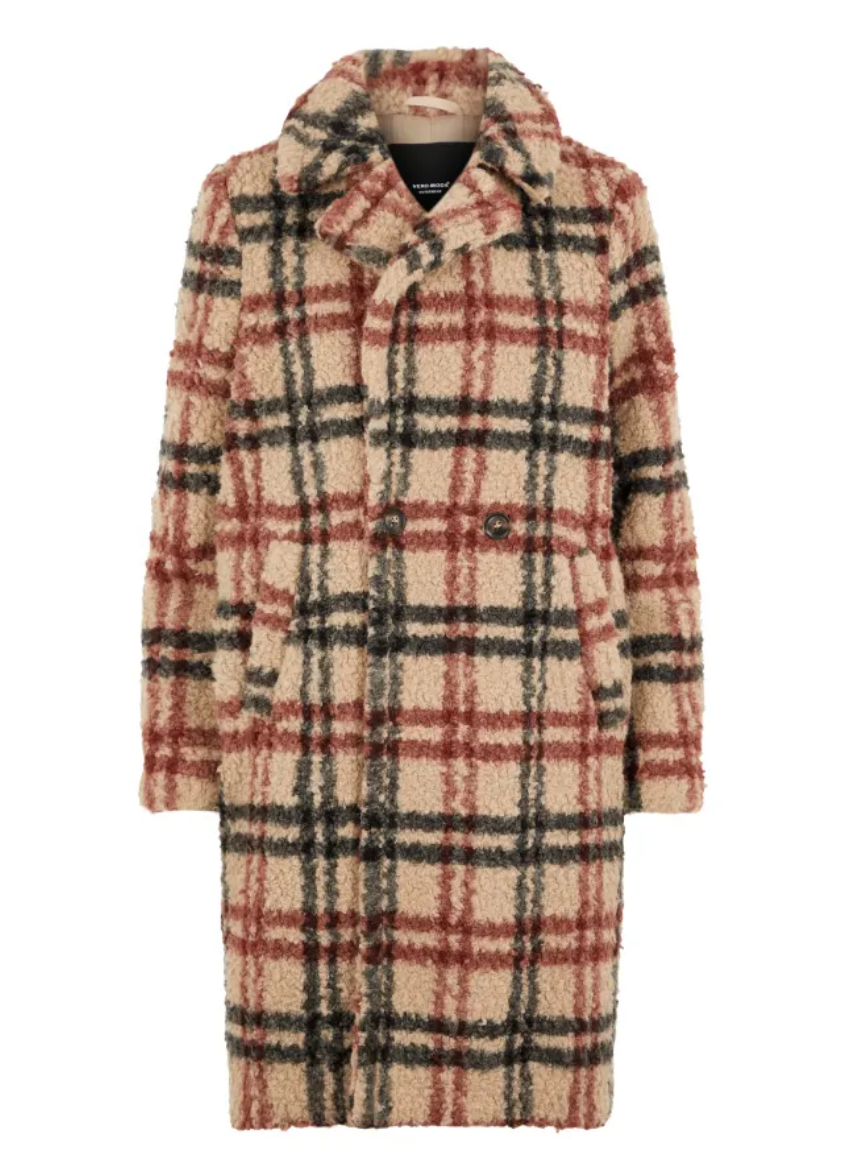 Chequered Teddy Coat - Coveted Style