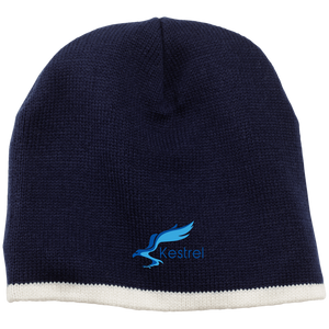 CustomCat Hats Navy/Natural / One Size Kestrel Outdoors Beanie