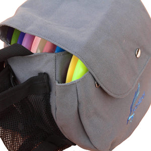 Kestrel Outdoors Gray Kestrel Disc Golf Bag | Fits 6-10 Discs + Bottle Holder