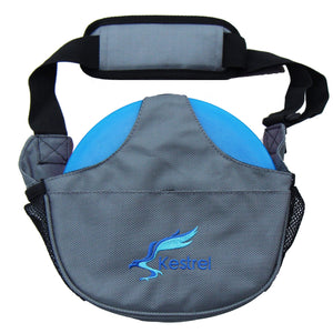 Kestrel Outdoors Gray Kestrel WeekDay Disc Golf Bag | Fits 5-7 Discs | For Beginner and Advanced Disc Golf Players
