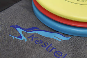Kestrel Outdoors Kestrel Disc Golf Beginning Set Bundle | 3 Discs + Bag | Perfect Outdoor Games for Kids | Includes Fairway Driver, Mid-Range and Putter