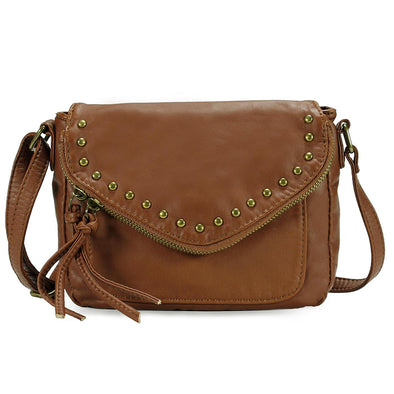Chic Zipper Flap Crossbody Bag H1716
