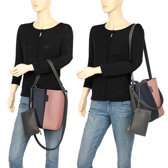 Dual Color Handbag H2059