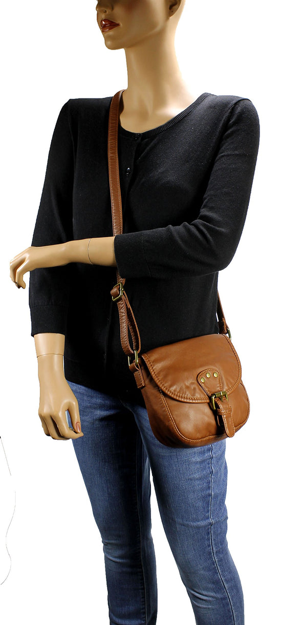 Mini Accent Belt Flap Crossbody Bag H1816