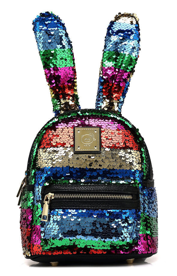 Mini Fashion Bunny Ear Sequins Backpack H2067
