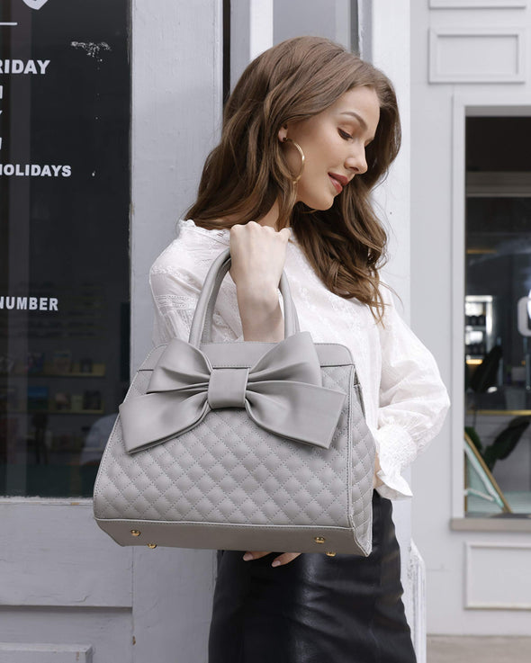 Scarleton Quilted Bow Satchel H1048