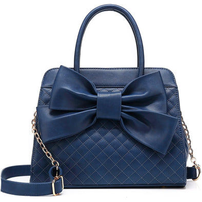 Quilted Bow Satchel H1048