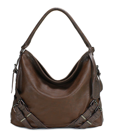 Large Faux Leather Bag H1065