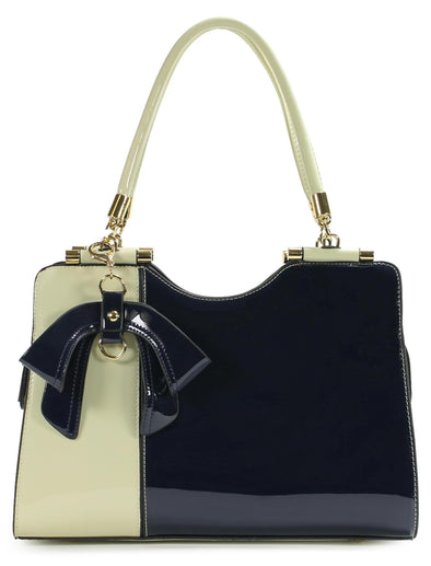 Elegant Two Tone Handbag H1423