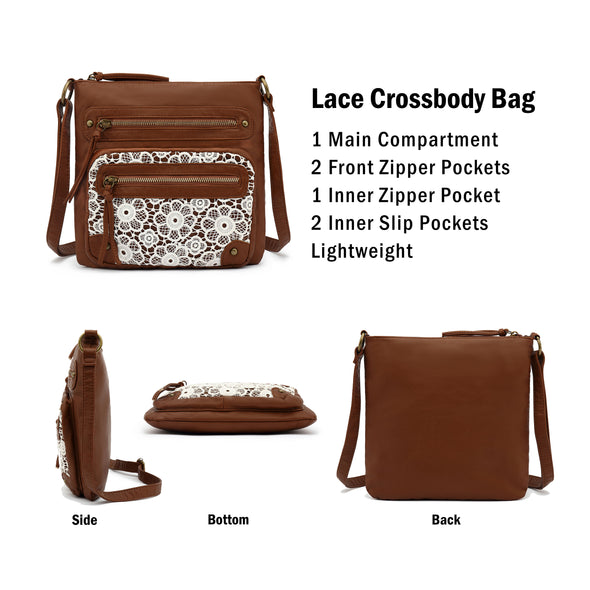 Small Lace Crossbody, Shoulder Bag H1912