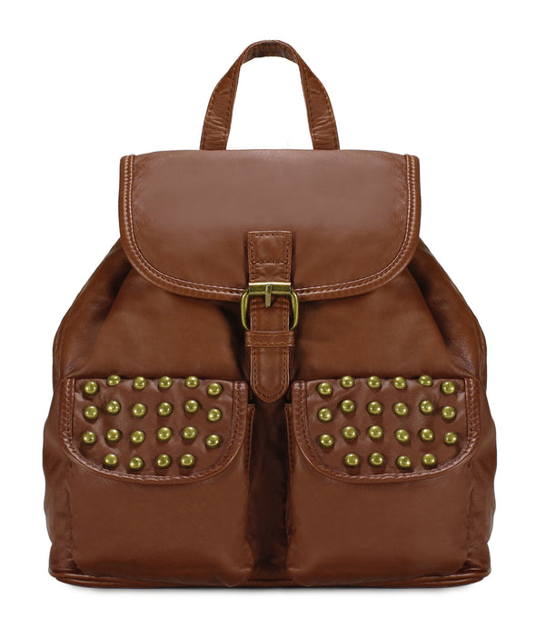 Trendy Studded Jacquard Backpack H2003