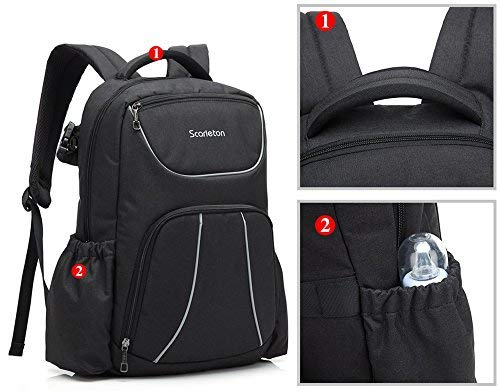 Water Resistant Diaper Backpack Insulated Heat & Cold H2044