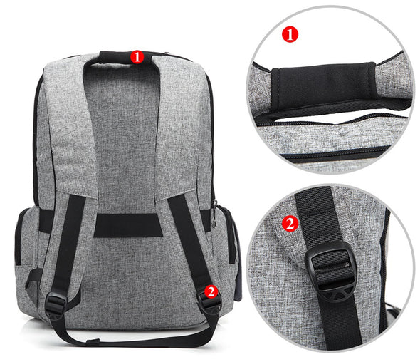 Water Resistant Diaper Backpack Insulated Heat & Cold H2045