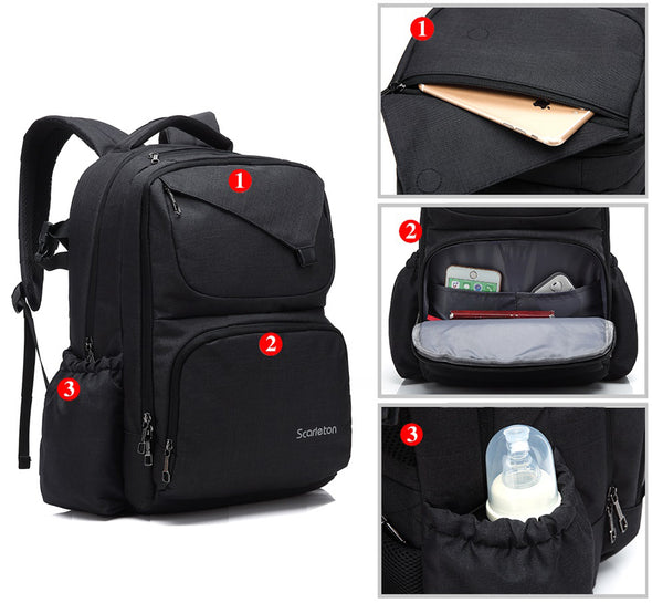 Water Resistant Diaper Backpack H2057