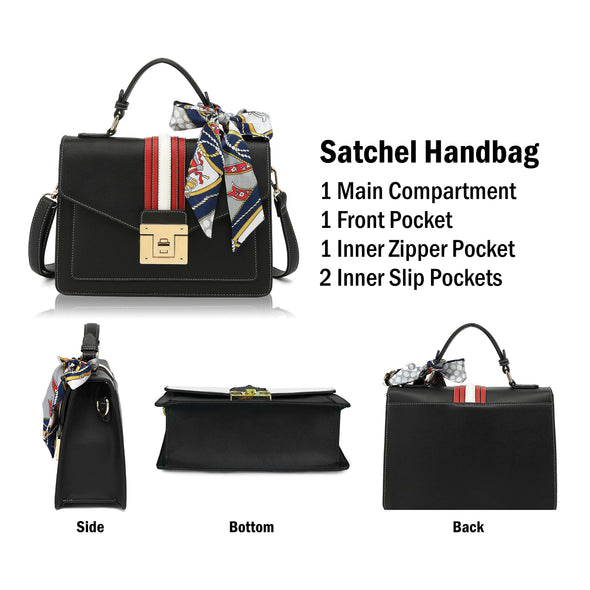Large Top Handle Satchel Handbag H2065