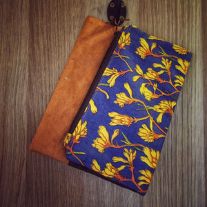 The Fold Over Clutch - Kangaroo Paws