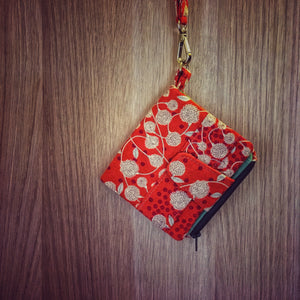 Orange Wallet Flower pattern