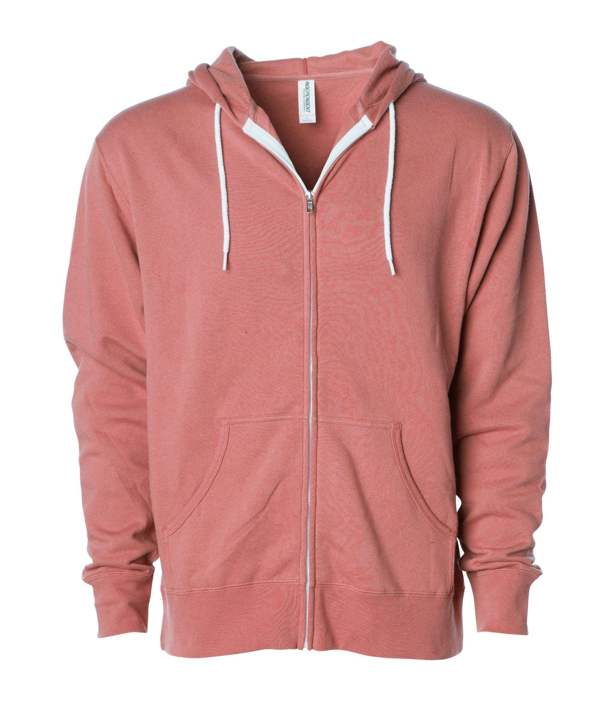 Unisex Lightweight Fitted Zip Hooded Sweatshirt