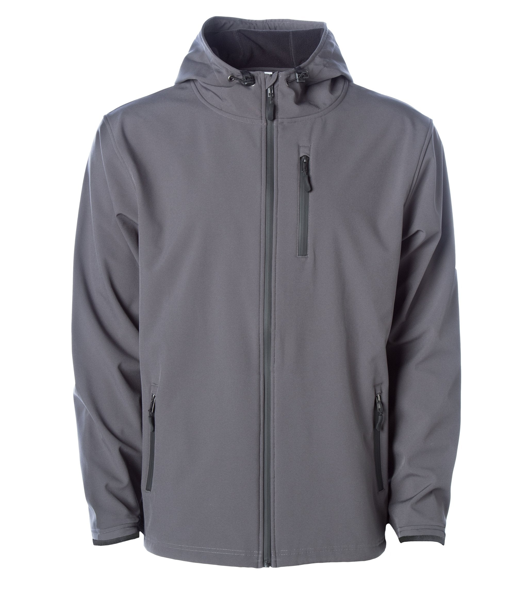 Poly-Tech Water Resistant Soft Shell Jacket in Graphite