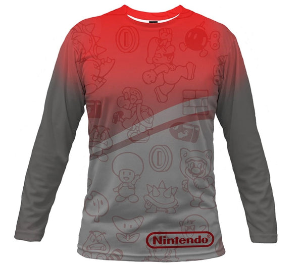Fully Sublimated Men's Long Sleeve Crew Neck T-Shirt