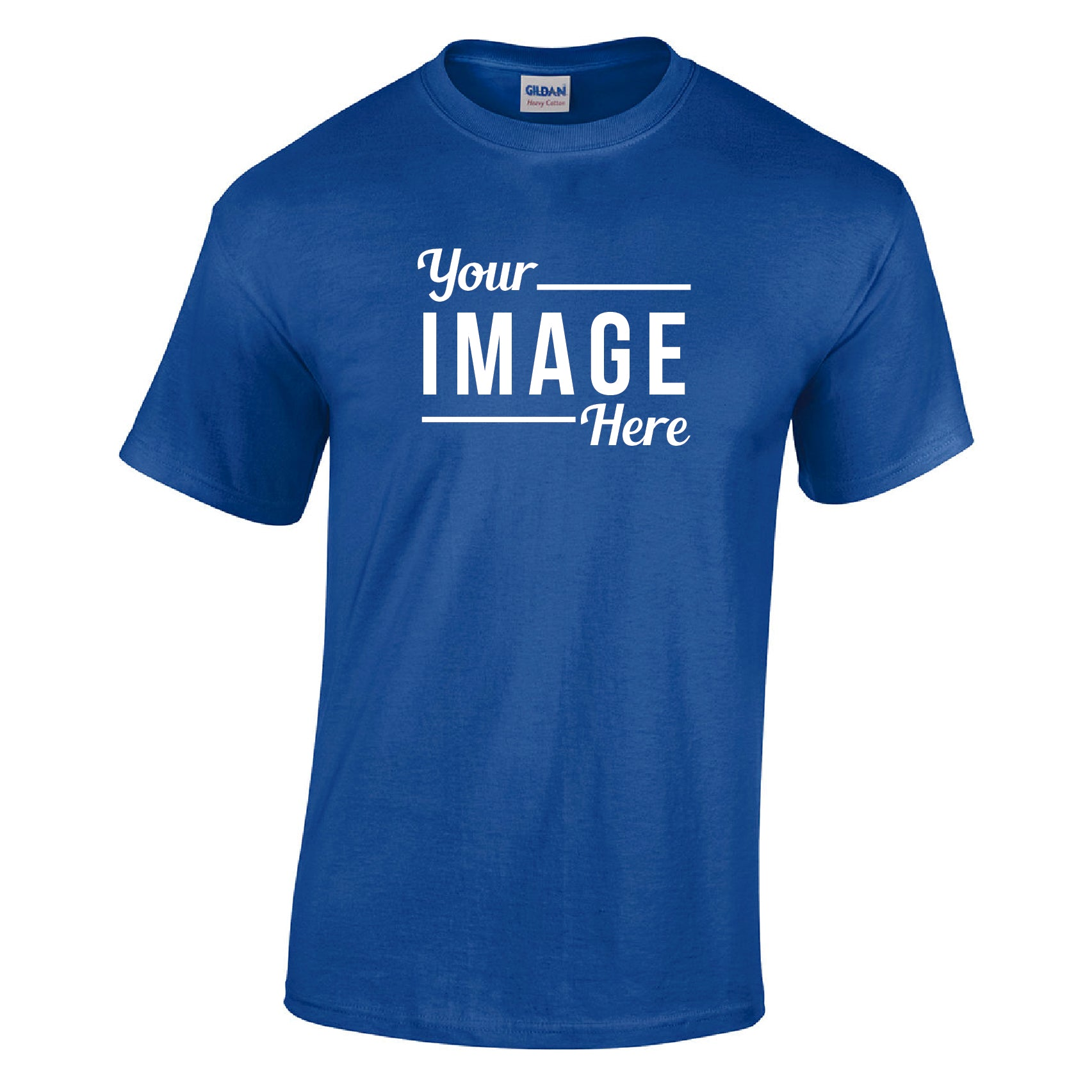 12 Custom Printed T-Shirts with One Color Imprint