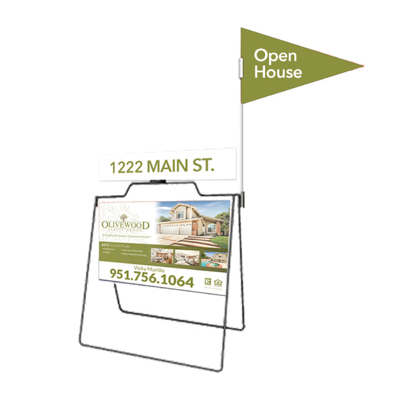 Open House Real Estate A-Frame