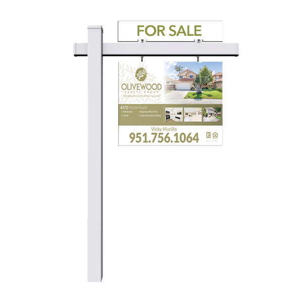 Real Estate Sign and Post