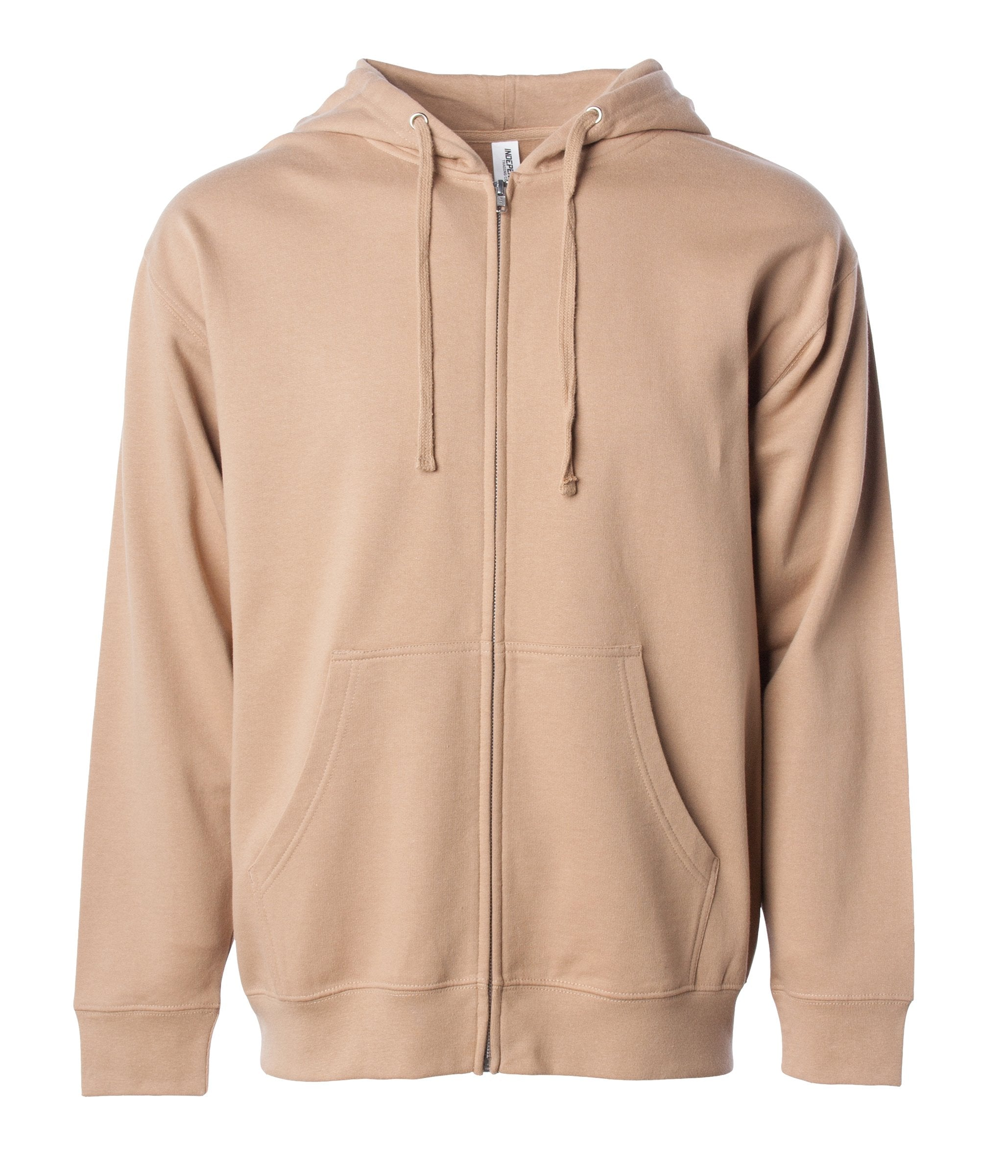 Midweight Zip Hooded Sweatshirt