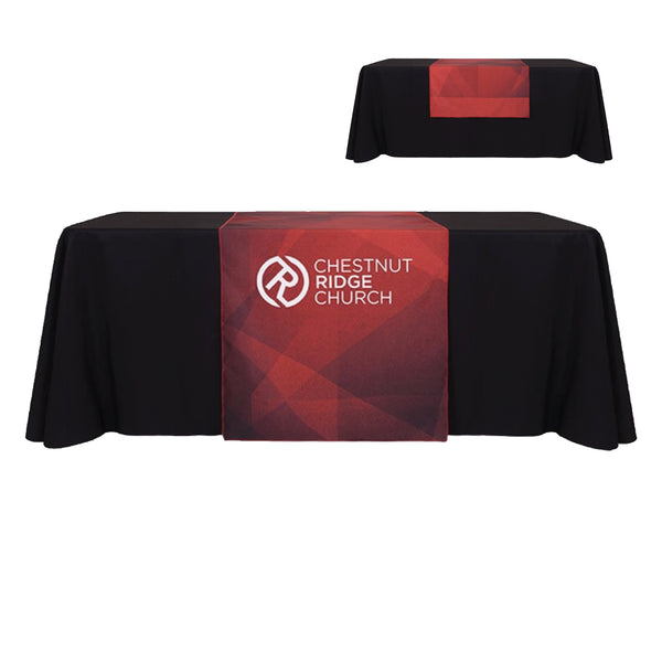 Custom Table Runner and Solid Color Throw Combo