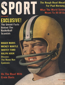 November 1961 Sport Cover (Paul Hornung, Green Bay Packers)
