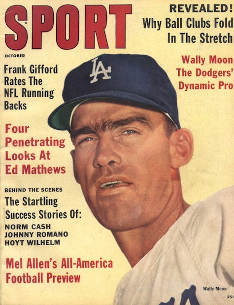 October 1961 Sport Cover (Wally Moon, Los Angeles Dodgers)